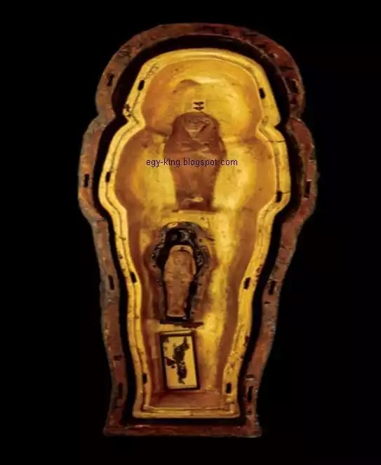 Three Small Anthropoid Coffins of Tutankhamun