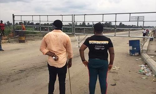 COVID-19 Lockdown: Wike Mounts Giant Gate At The Border Of Rivers And Abia States