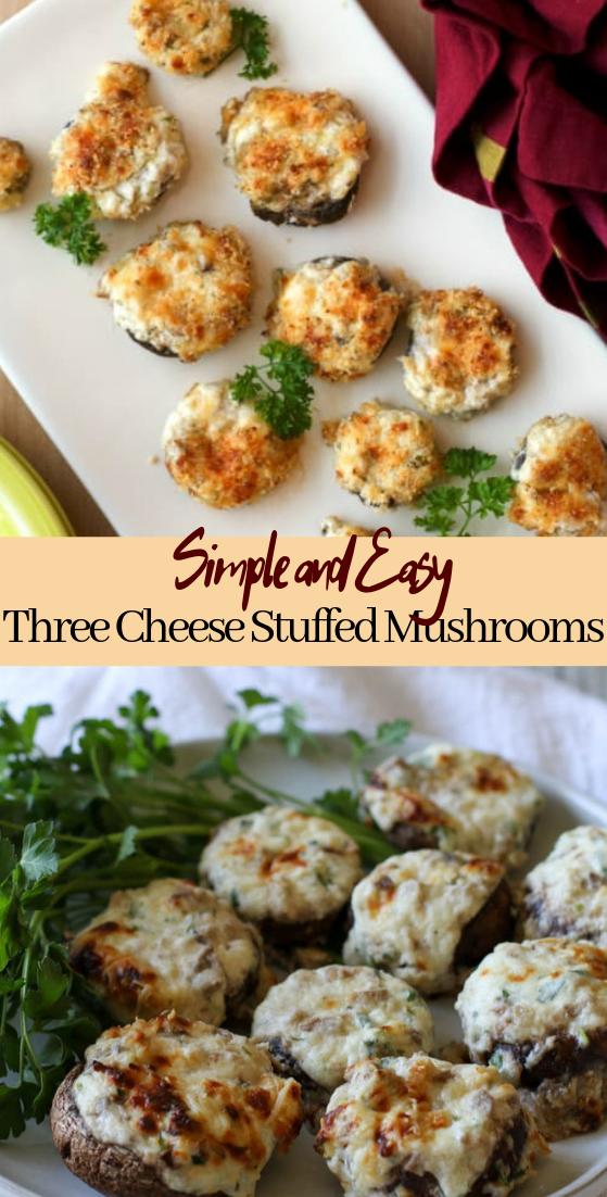 Three Cheese Stuffed Mushrooms #vegan #vegetarian #soup #breakfast #lunch