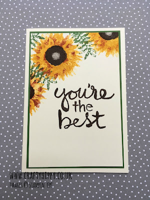 You're the Best card made using the Watercolor Words stamp set and Painted Harvest stamp set from Stampin' Up!