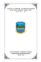 LAPORAN KETERANGAN PERTANGGUNGJAWABAN AKHIR MASA JABATAN (LKPJ-AMJ) KEPALA DESA 2014 – 2019