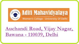 Aditi Mahavidyalaya, Auchandi Road, Vijay Nagar, Bawana - 110039, Delhi