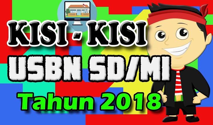 Kisi-kisi USBN Jenjang SD/MI Tahun 2018 Lengkap