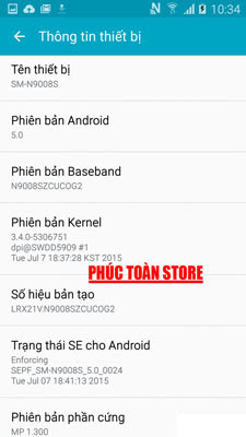 Tiếng Việt Samsung N9008S alt