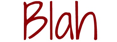 The word Blah