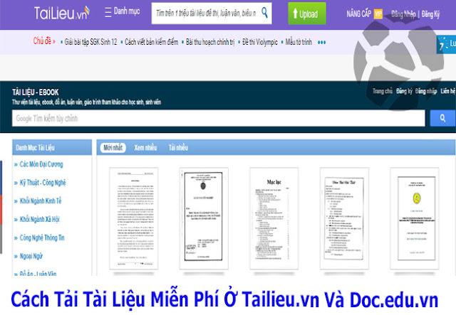 Tailieu.vn và Doc.edu.vn là hai trang cung cấp các tài liệu nổi tiếng mà các  bạn sinh viên, học sinh kể cả giáo viên hay sử dụng.