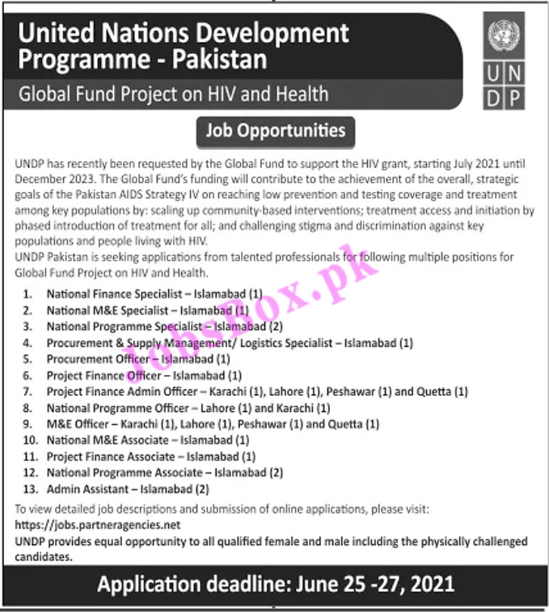 United Nations Development Programme UNDP Jobs 2021 in Pakistan - UNDP Recruitment 2021
