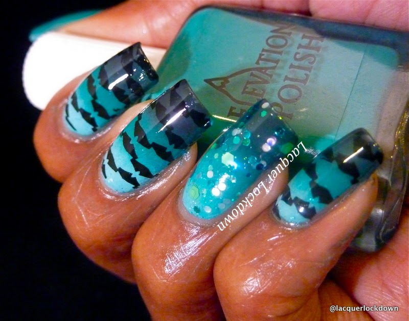 Lacquer Lockdown - Elevation Polish, Elevation Polish Sea Collection, diy nail art, cute nail art ideas, easy nail art, stamping, nail art stamping, advanced stamping, decal method, nail art stamping blog, elevation polish ceram sea, elevation polish thracian sea, elevation polish puncak jaya, lily anna 01, messy mansion