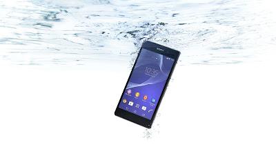 sony smartphone under water