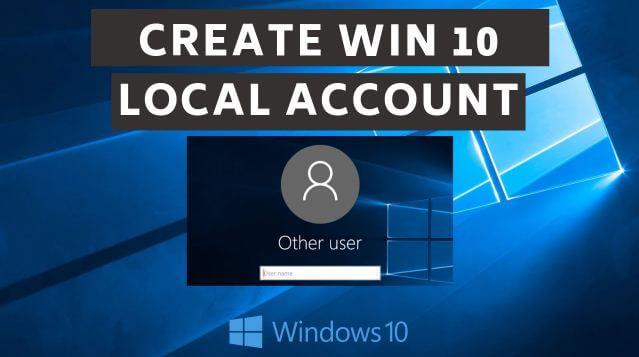 ما, هو, حساب, المستخدم, المحلي, من, مايكروسوفت, لويندوز 10؟