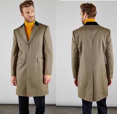 abrigo de lana virgen de la marca Hackett en oferta