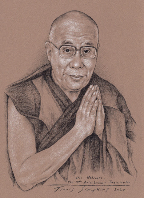 His Holiness the Dalai Lama. Tenzin Gyatso. Tibetan Buddhism. by Travis Simpkins