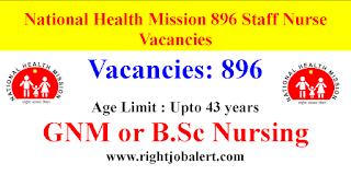 National Health Mission Assam 896 Staff Nurse Vacancies
