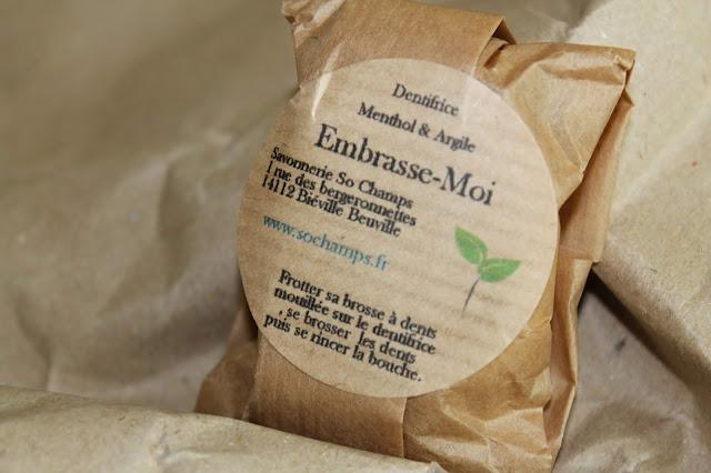 Dentifrice Menthol et Argile Embrasse-Moi - So Champs