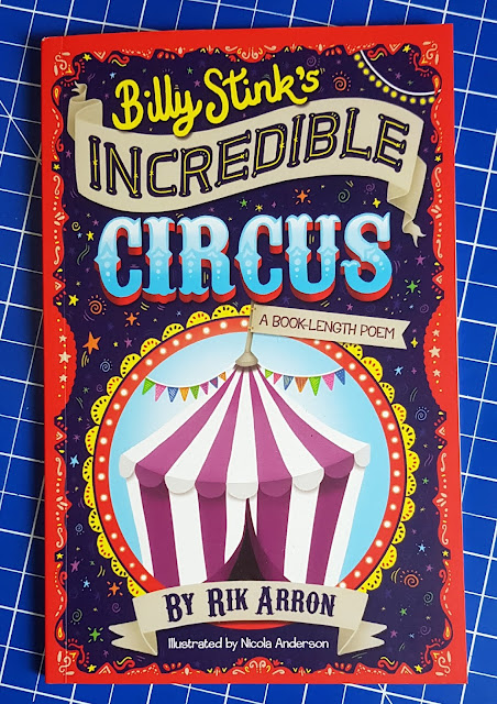 Billy Stink's Incredible Circus Children's Book cover with circus big top and bright loud illustration