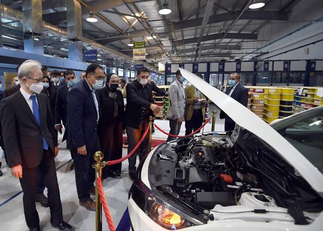 """مدبولي يتفقد مصنع """" """"إس إي ويرنج سيستمز ايجيبت"""" لإنتاج الضفائر الإلكترونية للسيارات ببورسعيد"""
