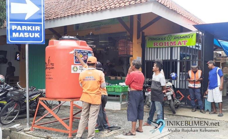 Cegah Sebaran COVID-19, BPBD Kebumen Sediakan Tandon Air Cuci Tangan