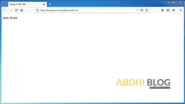 Membuat, Menyimpan dan Menjalankan Dokumen HTML - Belajar HTML Dasar 3