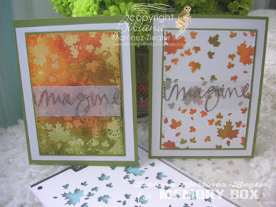 2 ways stenciled fall cards front