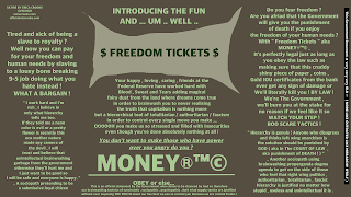 Freedom Tickets ( anticapitalist political satire )