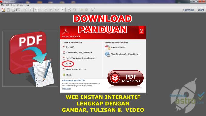 Download Tutorial PAnduan dalam bentuk PDF