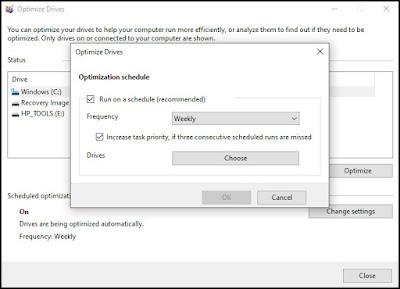 إلغاء تجزئة القرص الصلب الخاص بك في ويندوز Windows 10