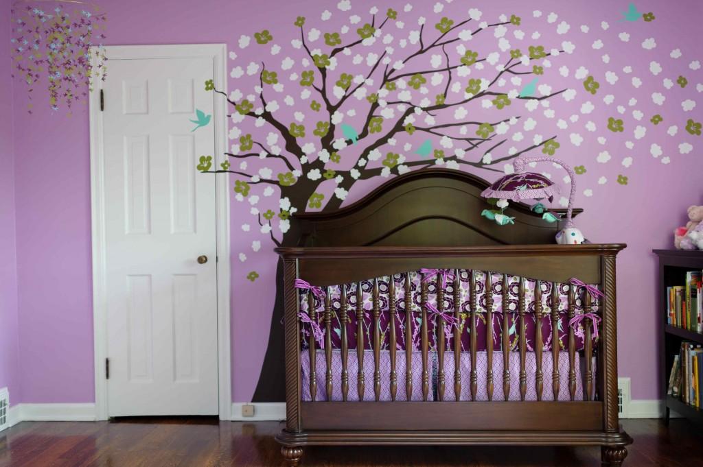 Habitaciones para beb s decoradas con lila colores en casa - Color paredes habitacion bebe ...