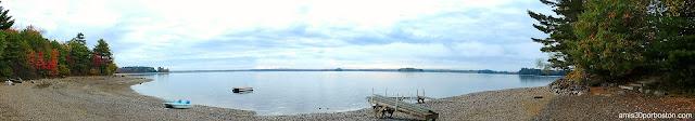 Vista Panorámica desde las Cabañas Turísticas en Maine