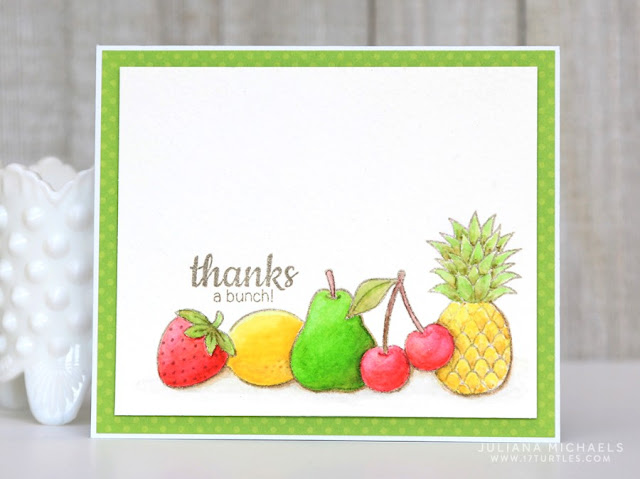 Sunny Studio Stamps: Tropical Paradise and Fresh & Fruity Thank You card by Juliana Michaels.