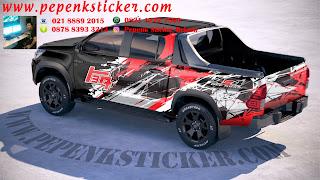 Mobil,Mitsubishi,Mitsubishi strada Triton,Triton,Hilux,Toyota Hilux,Toyota,Cutting Sticker,Cutting Sticker Bekasi,cutting sticker Mobil,sticker mobil,jakarta,Bekasi,