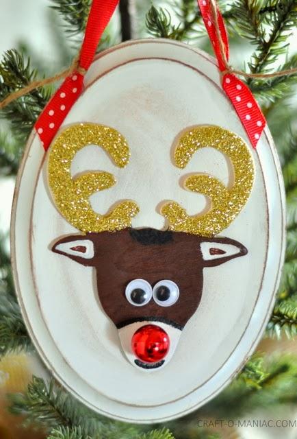 Diy Rudolph Ornament Craft O Maniac