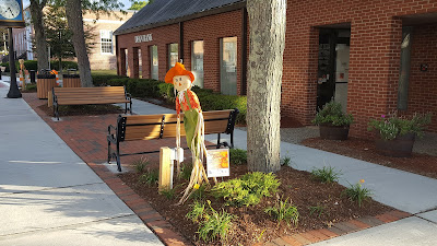 Downtown Franklin getting dressed up for the Harvest Stroll