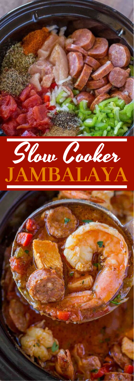 Slow Cooker Jambalaya #dinner #slowcooker