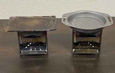 BE-PAL付録 SHO'S肉厚グリルパンと肉厚鉄板mini、ミニ焚き火台