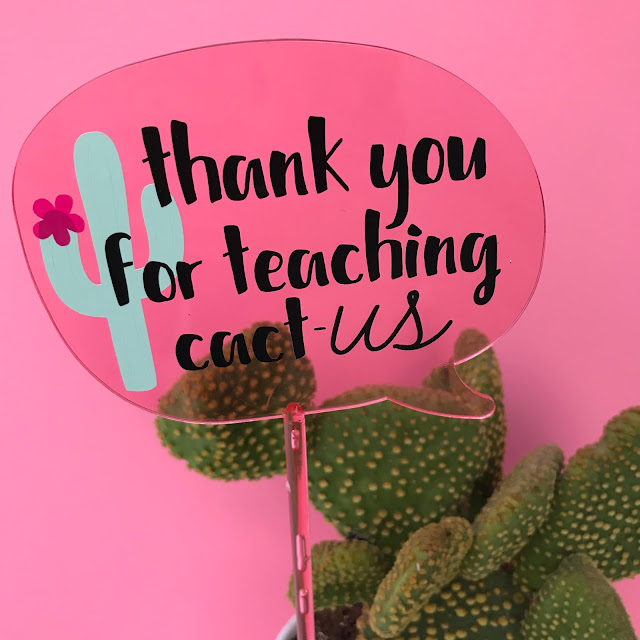 Create your own DIY Cactus Teacher Gift!