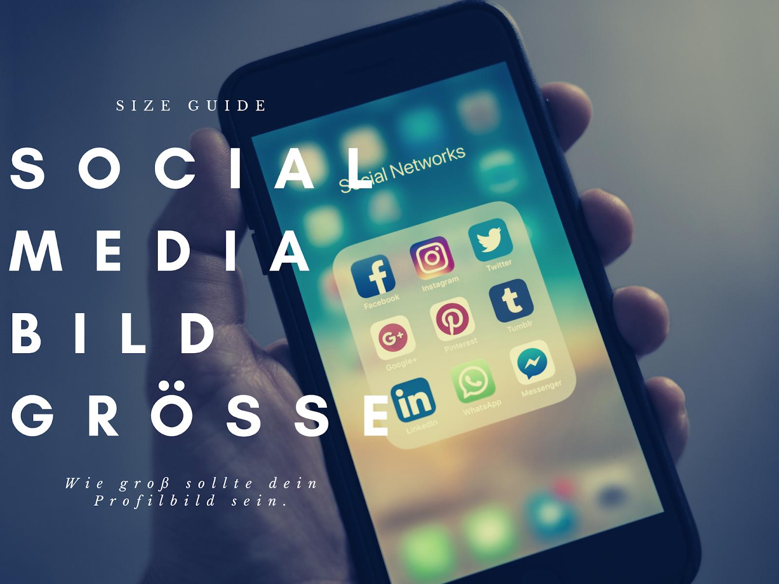 Die passende Bildgröße für dein Social Media Profil finden | Wie groß sollte dein Profilbild sein