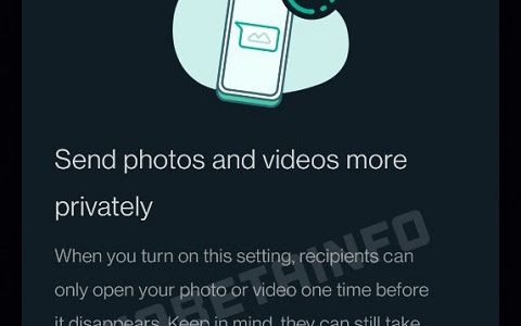 Confirmed - View Once will be a new Whatsapp Feature