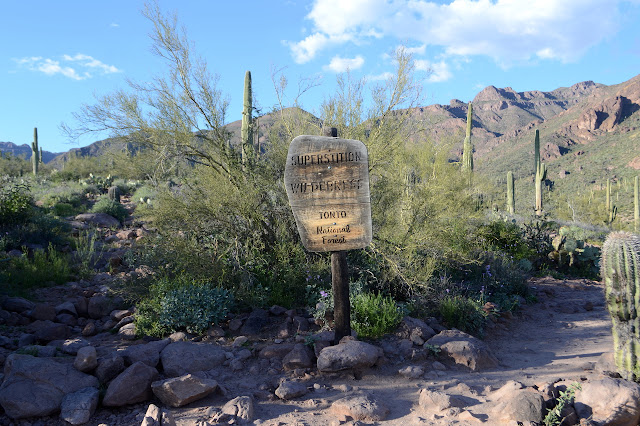 Superstition Wilderness sign
