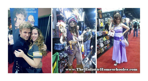 megacon collage of photos