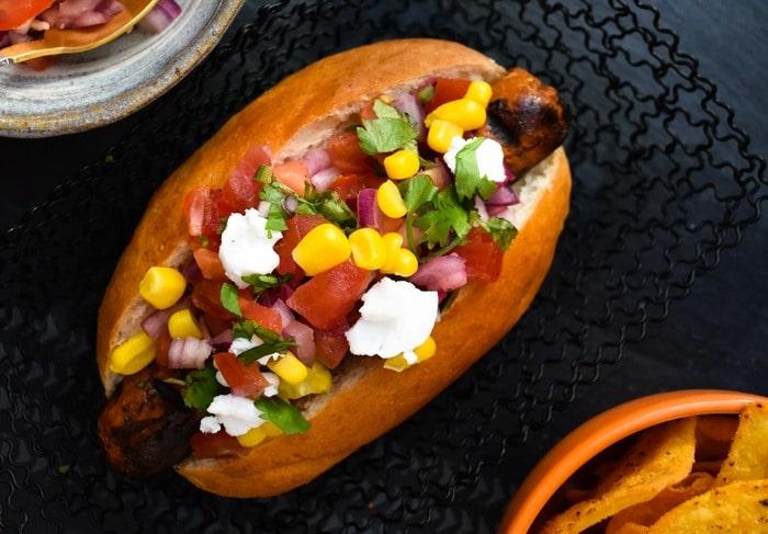 Tex Mex Vegan Hot Dog