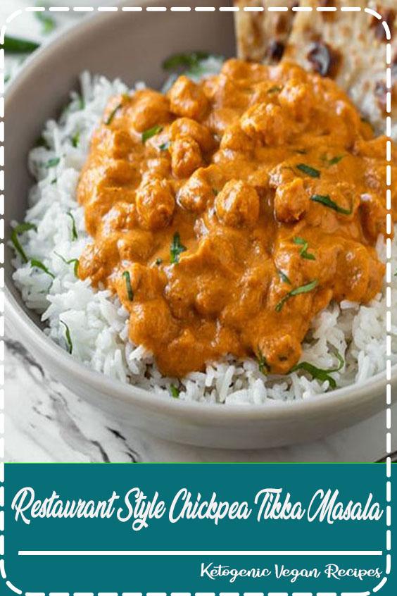 Restaurant Style Chickpea Tikka Masala | Vegetarian Tikka Masala