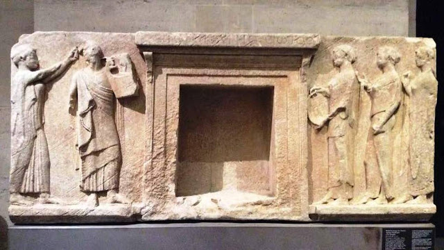The Louvre returns casts of three marble reliefs to Greek island of Thasos