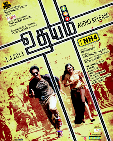 Poster Of Udhayam NH4 In Dual Audio Hindi Tamil 300MB Compressed Small Size Pc Movie Free Download Only At worldfree4u.com