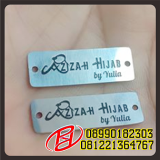 PLAT LABEL HIJAB DI BANDUNG | PLAT LABEL CUSTOM | PLAT LABEL MURAH