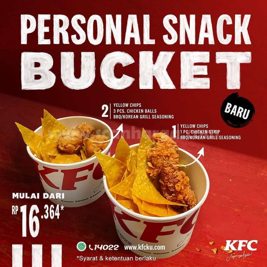 KFC Snack Bucket Personal Harga Promo Mulai Rp.16.364