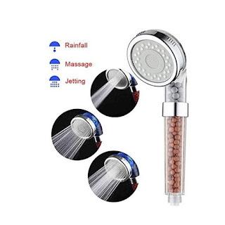 Kepala Shower Mandi Head Ion SPA Ionizer Healthy Crystal 3 Mode
