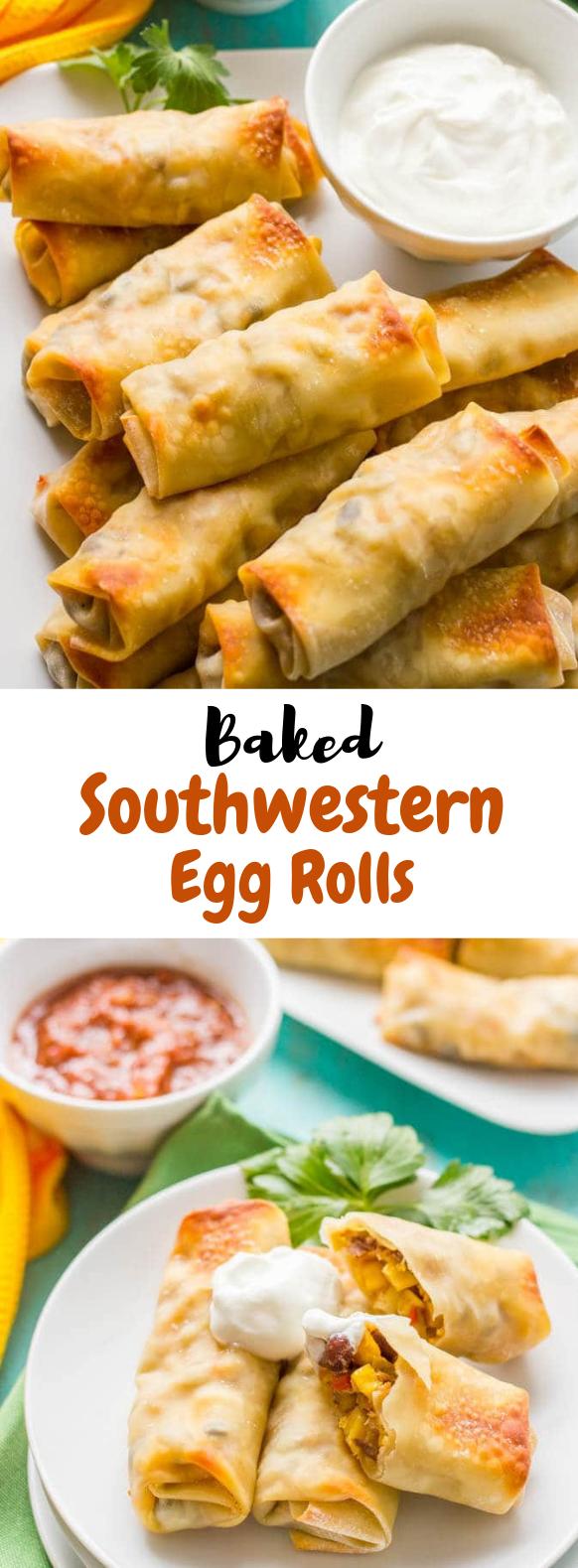 BAKED SOUTHWESTERN EGG ROLLS #Appetizer #Egg