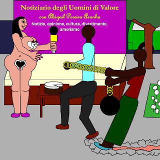 Notiziario degli Uomini di Valore con Abigail Pereira Aranha. Notizie, opinione, cultura, divertimento, umorismo.