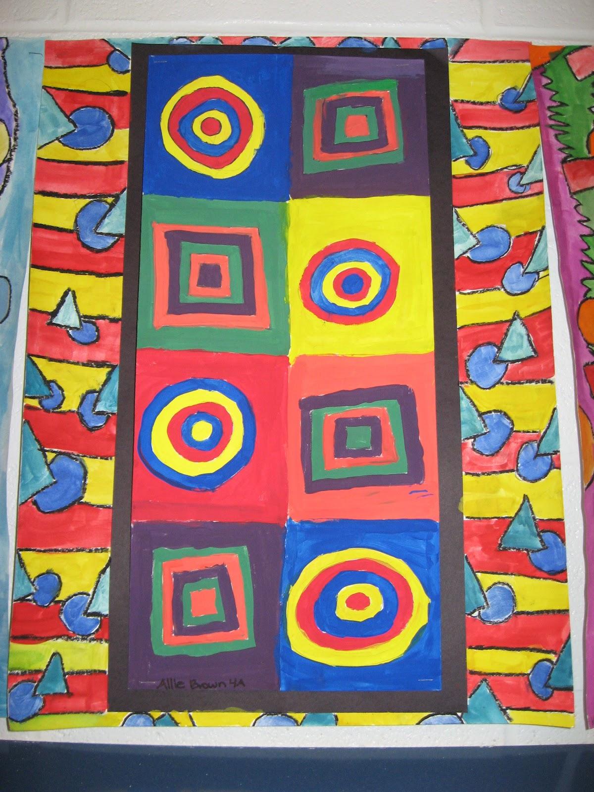 Jamestown Elementary Art Blog 4th Grade Kandinsky Abstract Art