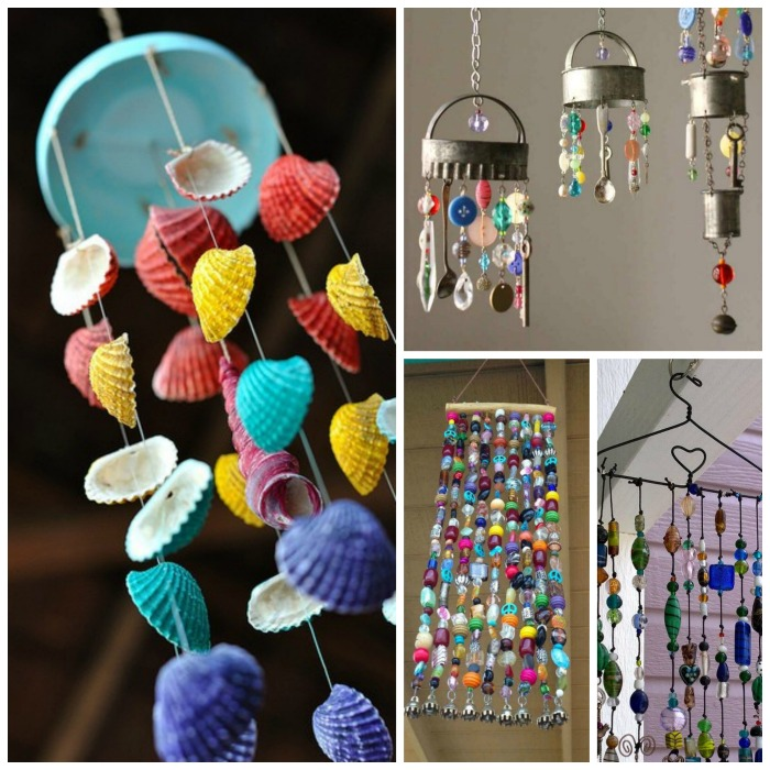Wind chime crafts growing a jeweled rose for Easy to make wind chimes